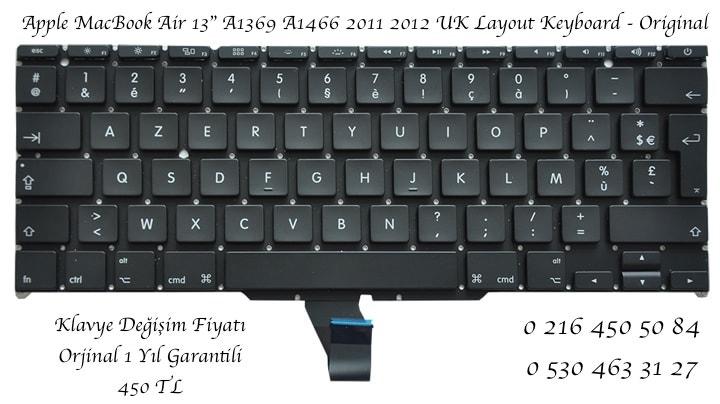 MacBook Air A 1369 - 1466 ingilizce Klavye